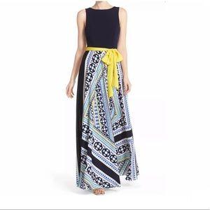 Eliza J Jersey Crepe de Chine Maxi Dress NWT
